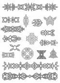 foto of cult  - Celtic ornaments and tracery  for design and decorate - JPG