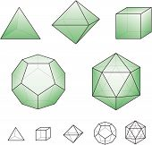 stock photo of tetrahedron  - Platonic solids  - JPG