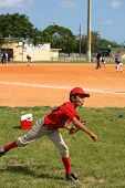 Child Playing Baseball