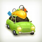 stock photo of kayak  - Car travel - JPG