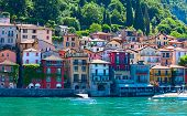 Landscapes around famous lake Como in northern Italy