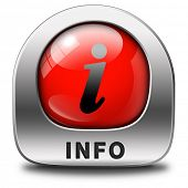 stock photo of more info  - info icon more information sign additional info red icon read more button - JPG