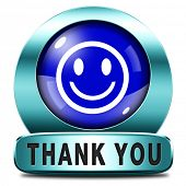 stock photo of gratitude  - Thank you note saying thanks a lot sign expressing gratitude - JPG