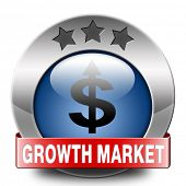 growth market blue icon economy growing emerging economies in international and global leading count