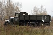 Kiev, Ukraine - November 3: German historical military transport is displayed on the Field of Battle