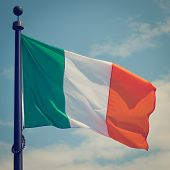 Flag of Ireland with retro effect