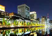 picture of kanto  - Tokyo commercial district at night - JPG