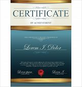 stock photo of coupon  - Elegant certificate or diploma  template - JPG