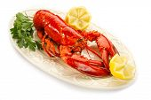 picture of lobster tail  - boiled lobster - JPG