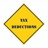 Tax Deductions Sign