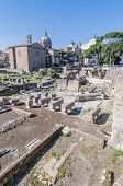 The Roman Forum In Rome, Italy.