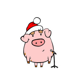 pic of happy new year 2013  - Piggy sing on New Year - JPG