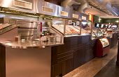 stock photo of pizza parlor  - View of modern counter in pizza parlor and restaurant - JPG