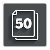 image of 50s  - In pack 50 sheets sign icon - JPG