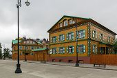 picture of tatar  - decorative wooden houses in old Tatar Sloboda Kazan Russia - JPG