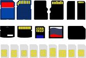 foto of micro-sim  - An Illustration of Selection of Memory and SIM Cards - JPG