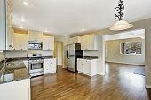 stock photo of granite  - Interior in empty house with open floor plan - JPG