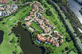 pic of middle class  - Aerial view of australian luxury golf neighborhood - JPG