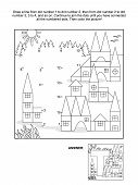 picture of letter t  - Educational connect the dots picture puzzle and coloring page  - JPG