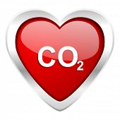 picture of carbon-dioxide  - carbon dioxide valentine icon co2 sign  - JPG