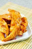image of crisps  - caramelized crisps thai dessert made of flour and sugar - JPG
