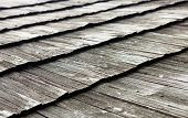 picture of shingles  - Old wooden shingle roof. Wooden surface texture.