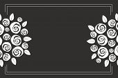 picture of swirly  - Valentine and wedding themed border boquet of swirly roses - JPG