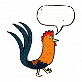 picture of cockerels  - cartoon cockerel with speech bubble - JPG