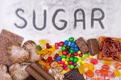 stock photo of sweet food  - Food containing sugar - JPG
