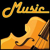 picture of violin  - Stylized vector illustration on a musical theme - JPG