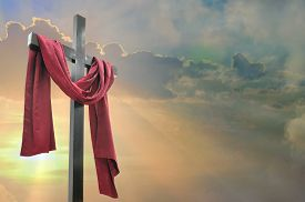 picture of calvary  - cross against the dramatic sky - JPG