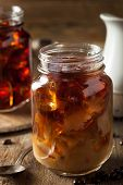 foto of brew  - Homemade Cold Brew Coffee to Drink for Breakfast - JPG