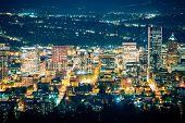pic of portland oregon  - City of Portland Night Scenery - JPG