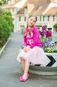 pic of tutu  - Fashion portrait of a cute little girl of 7 years old - JPG