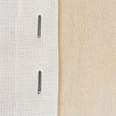 picture of staples  - Close up staple cloth end on wooden frame - JPG