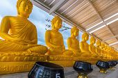 stock photo of buddha  - Buddha statue in the temple of the Big Buddha of Phuket Thailand - JPG