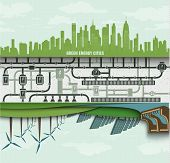 image of generator  - renewable energy in the big city - JPG
