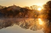picture of ponds  - Sunrise over the pond - JPG