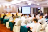 foto of seminars  - Abstract blurred people lecture in seminar room education or business concept - JPG