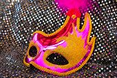 picture of mask  - Female pink carnival mask - JPG