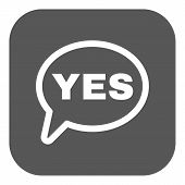 foto of yes  - The YES speech bubble icon - JPG
