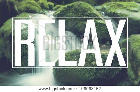 Relax Rest Relaxation Waterfall Lithophyte Concept