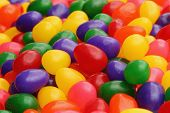 stock photo of jelly beans  - colorful close up of candy jelly beans - JPG