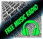 Free Music Radio Represents Without Charge And Acoustic poster