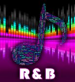 Постер, плакат: Rhythm And Blues Represents Contemporary R&b And Audio