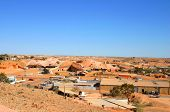 stock photo of bottomless  - view over coober pedy in australian outback - JPG
