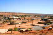 foto of bottomless  - view over coober pedy in australian outback - JPG