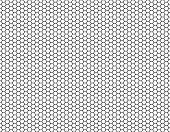 Постер, плакат: Grille Hexagonal cell texture