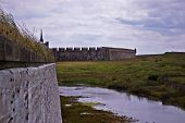 stock photo of acadian  - the walls of the fortress of louisbourg - JPG