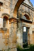 image of euphrat  - ruins of ancient simonis abbey in syria - JPG